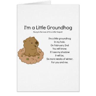 I'm a Little Groundhog Card