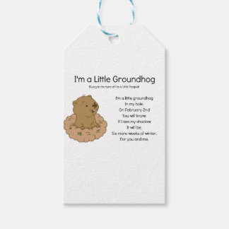 I'm a Little Groundhog Pack Of Gift Tags