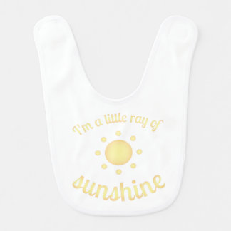 """I'm a little ray of sunshine"" Baby Bib"