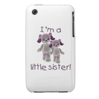 I'm a little sister (purple puppies) iPhone 3 case