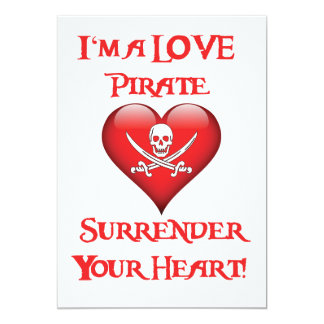I'm a Love Pirate - Surrender Your Heart! Card