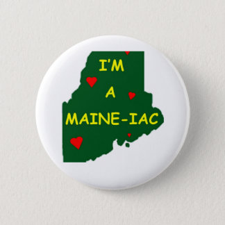 I'M A MAINE IAC 2 INCH ROUND BUTTON