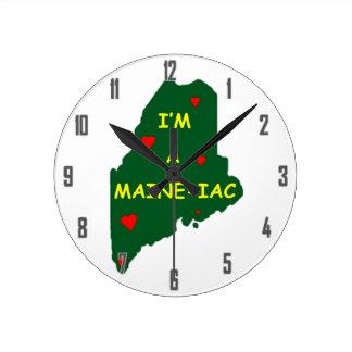 I'M A MAINE IAC ROUND CLOCK