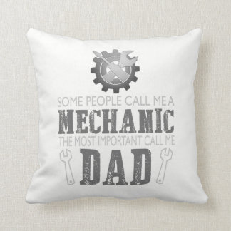 I'm a mechanic and I'm a dad Throw Pillow
