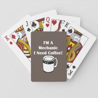 I'M A Mechanic, I Need Coffee! Playing Cards