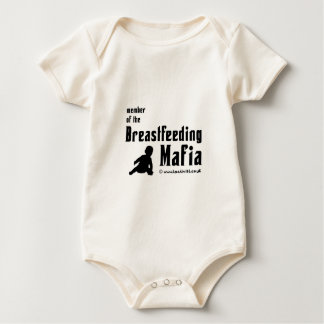I'm a member of the breastfeeding mafia baby bodysuit