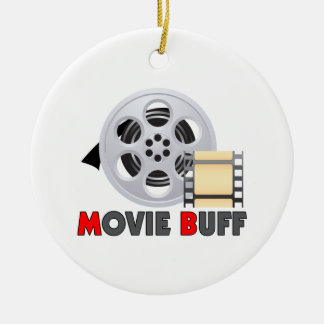 I'm A Movie Buff Ceramic Ornament