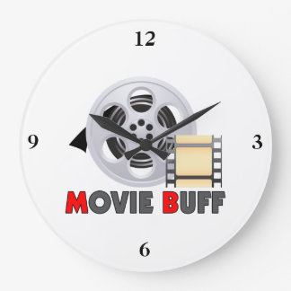 I'm A Movie Buff Large Clock