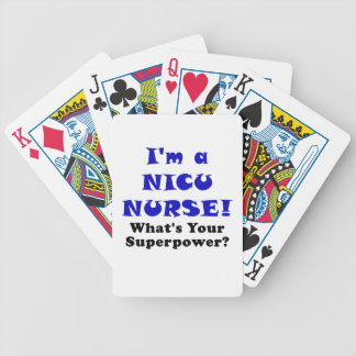 Im a Nicu Nurse Whats your Superpower Bicycle Playing Cards