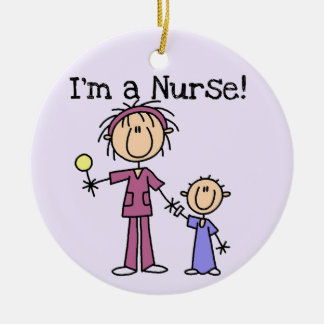 I'm a Nurse T-shirts and Gifts Ceramic Ornament