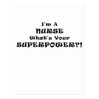 Im a Nurse Whats Your Superpower Postcard