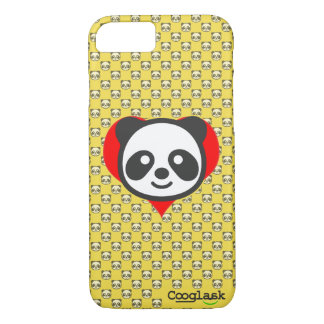 I'm a panda! Cover, texture with panda, yellow. iPhone 8/7 Case