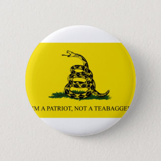 I'm a Patriot, Not a Teabagger 2 Inch Round Button