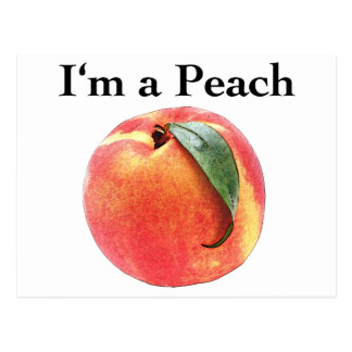 I'm a Peach Postcard