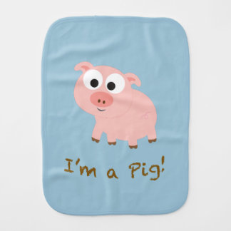 I'm a pig! burp cloth