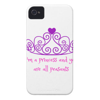 I'm a princess - funny girly product iPhone 4 Case-Mate cases