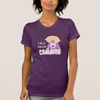 """""""I'm A Proud Grauntie"""" with Cute Baby in Purple T-Shirt"""
