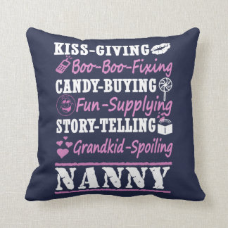 I'M A PROUD NANNY! THROW PILLOW