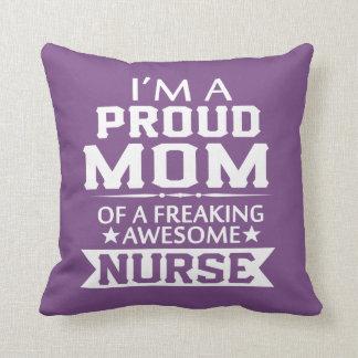 I'M A PROUD NURSE'S MOM THROW PILLOW