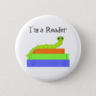I'm a Reader, Bookworm 2 Inch Round Button