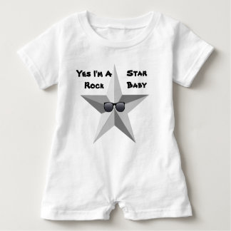 I'm A Rock Star Baby, Baby Romper