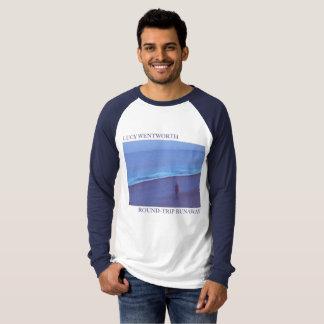 """I'm a Round-Trip Runaway"" Navy long sleeved T-Shirt"