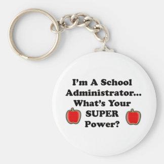 I'm a School Administrator Basic Round Button Keychain