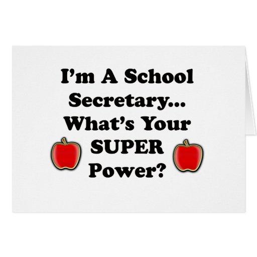 I'm a School Secretary Card