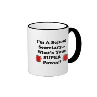 I'm a School Secretary Ringer Coffee Mug