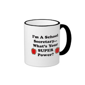 I'm a School Secretary Ringer Mug