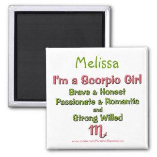 I'm a Scorpio Girl Personalized Zodiac Magnet