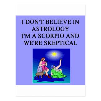 i'm a scorpio postcard