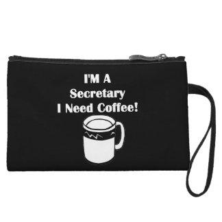 I'M A Secretary, I Need Coffee! Wristlet Purse