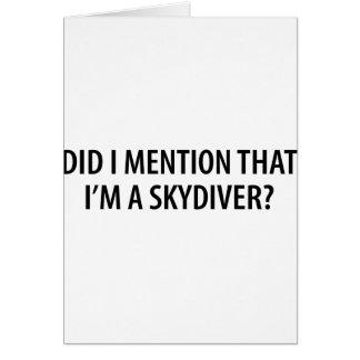 I'm A Skydiver Card