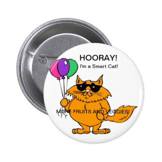 IM A SMART CAT - MORE FRUIT AND VEGETABLES BUTTON