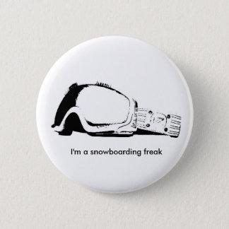 I'm a snowboarding freak 2 inch round button