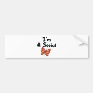 I'm A Social Butterfly Car Bumper Sticker