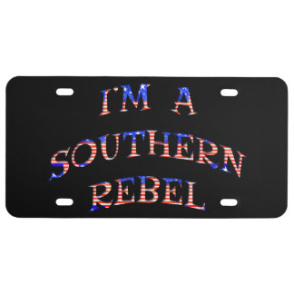 I'm A Southern Rebel Vanity Licence Plate
