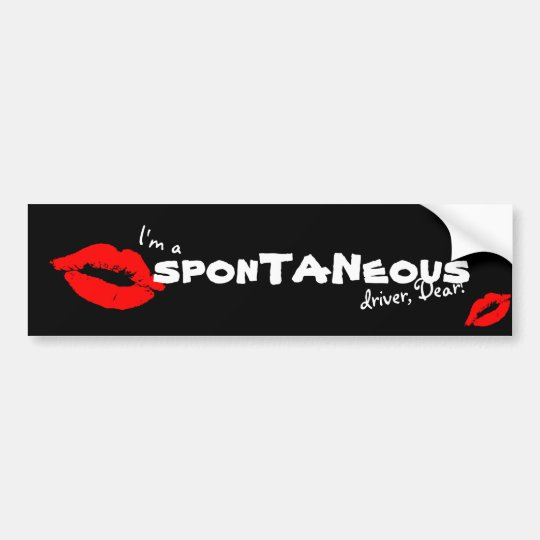 I'm a spontaneous Driver Dear Red Lip Kiss Sticker