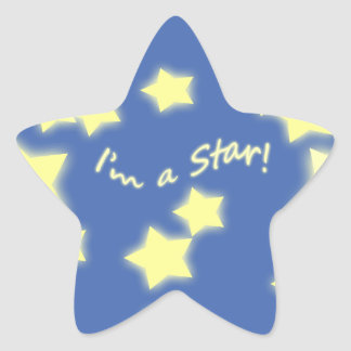 I'm a Star! Blue/Yellow Star Sticker