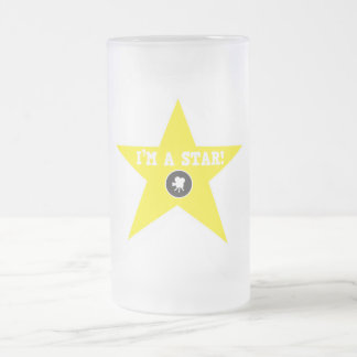 I'm a star ! frosted glass mug