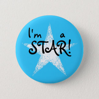 I'm a STAR! | Light Blue 2 Inch Round Button
