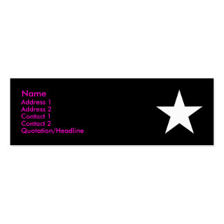 I'm a Star! (Pink/Black/White) Pack Of Skinny Business Cards