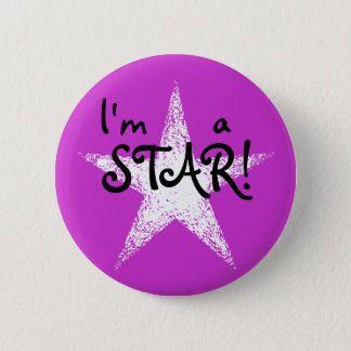 I'm a STAR! | Purple 2 Inch Round Button