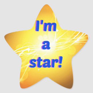 I'm a Star Stickers, Glossy Star Sticker