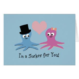 I'm a sucker for you! Cute Octopi Card