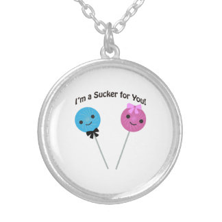 I'm a sucker for you! silver plated necklace