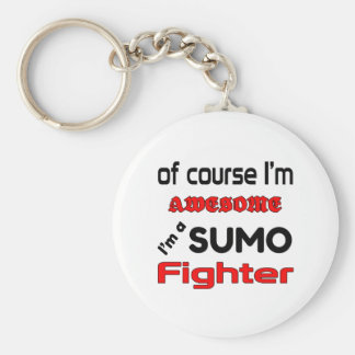 I'm a Sumo Fighter Basic Round Button Keychain
