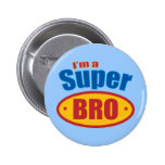 I'm a Super Bro Super Hero Brother 2 Inch Round Button