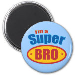I'm a Super Bro Super Hero Brother 2 Inch Round Magnet